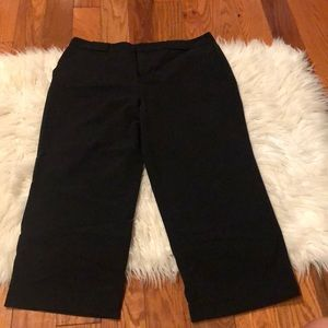 Cropped black slacks